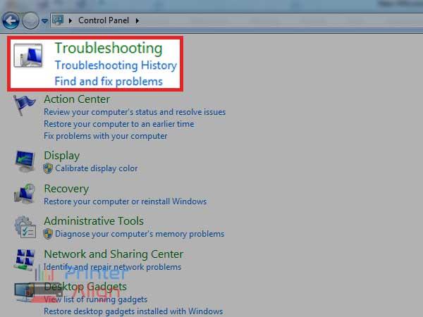 select'Troubleshooting'