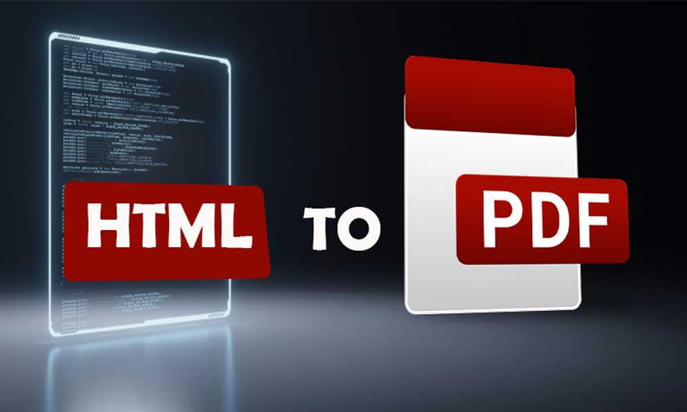 Conversion of HTML To PDF