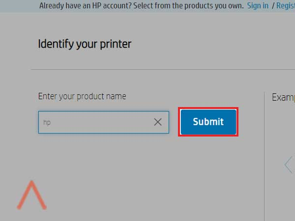printer modal name