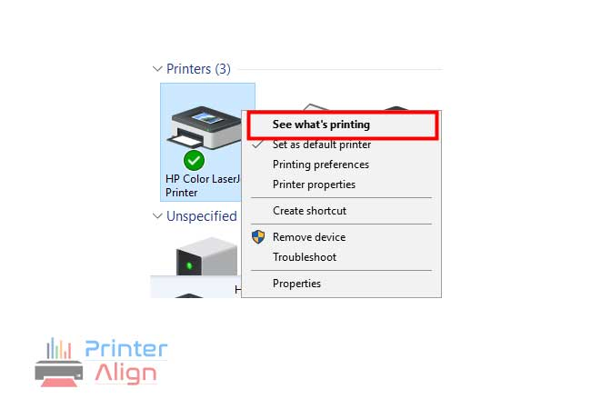 select'See what's printing'
