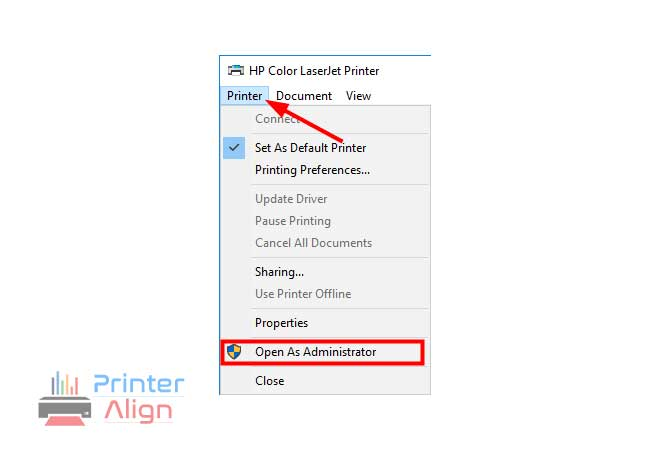 select'Open as Administrator'