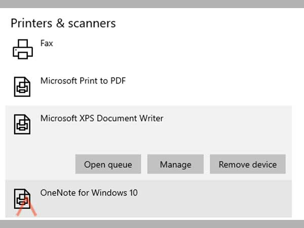 Select your printer and click on manage